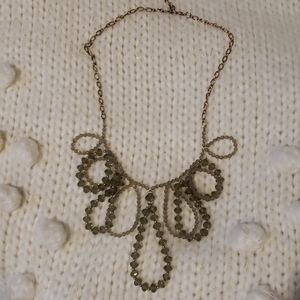 Anthropologie Circle Drop Beaded Necklace